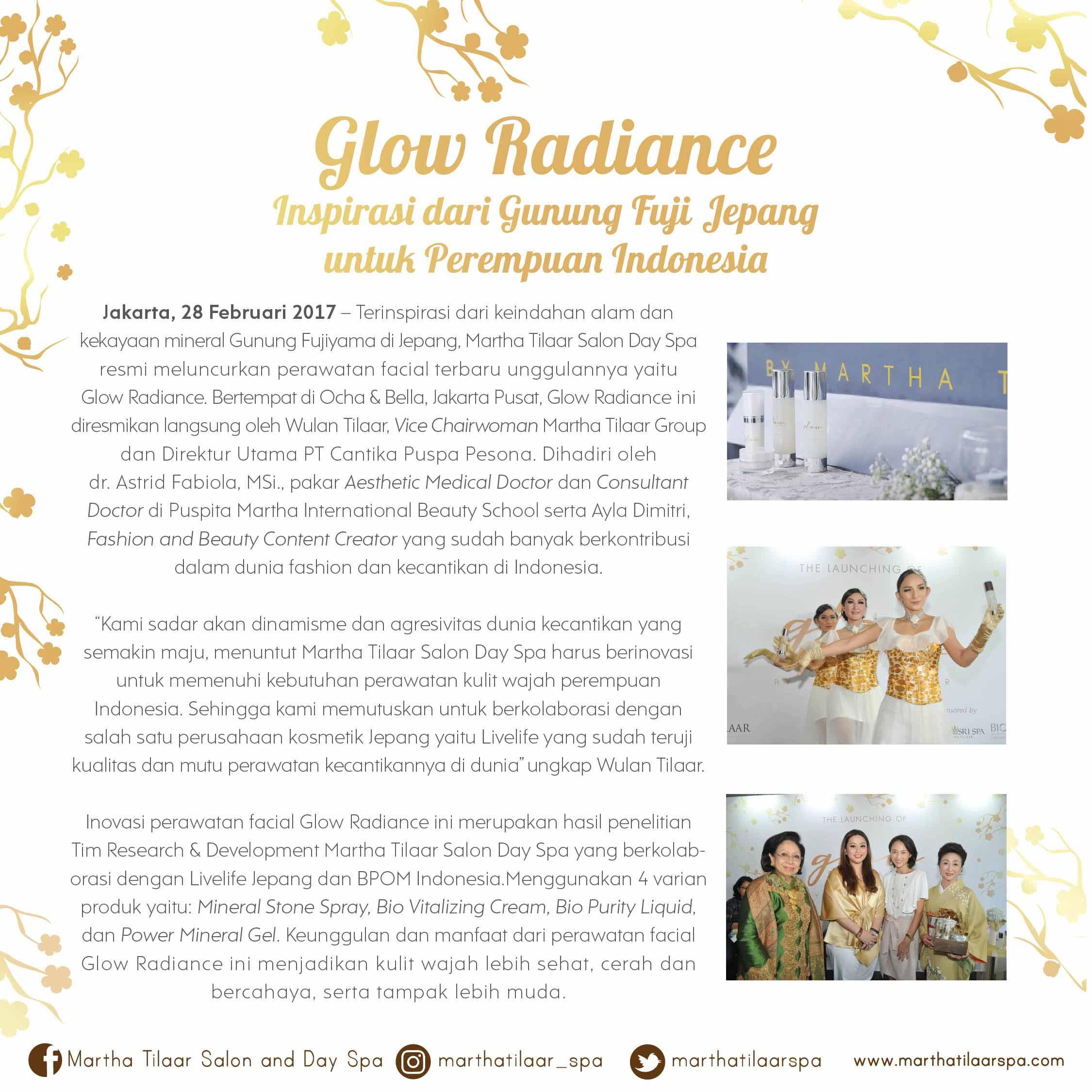 Glow Radiance, Inspirasi dari Gunung Fuji Jepang untuk Perempuan Indonesia